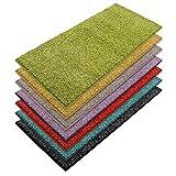 casa pura Teppich Läufer Luxury | Moderne Shaggy Optik mit flauschigem Hochflor | Teppichläufer in vielen Farben für Flur, Schlafzimmer, Wohnzimmer etc. | viele Breiten und Längen (66 x 200cm, grün)