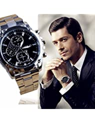 Montres bracelet Covermason Affaires sur les hommes bande en acier inoxy machines Sport Quartz Watch