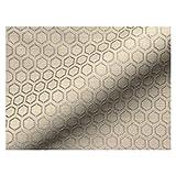 Joop! Stoff Polsterstoff Möbelstoff Bezugsstoff Meterware Sitzbezug Honeycomb Polyester Gepunktet Gelb Muster