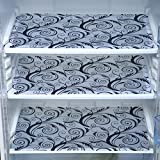 E-Retailer™ Premium Quality Fridge/Drawer Mats(Set :Pack Of 6, Size: 12X17 Inches, Color : Black & White)