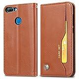 Hochwertiger Koffer PU-Leder-Wallet Flip Schutzhülle mit Kartensteckplatz/Ständer für Huawei Honor 9 Lite (Color : Brown)