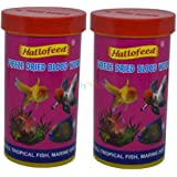 FishAsPets Hallofeed Freeze Dried Worms - 20 Grams Blood Worms (Pack of 2 Pieces)