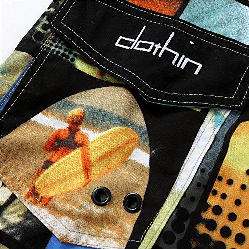 Beach Shorts, Clothin Herren Boardshorts Schwimmen Surfen Sport Wasser Shorts Gelb - gelb