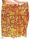 LA LEELA Mens hawaiische Bademode Badeanzug Badeanzug Sarong Pareo Wickel vertuschen Blutig Rot_S17 eine Größe: Länge: 72' Breite: 42'