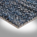 BODENMEISTER BM72392 Teppichboden Auslegware Meterware Schlinge 400 und 500 cm breit, verschiedene Längen, Variante:, Blau, 3,5 x 5 m