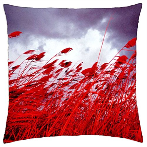 Field of Red Oats Fantasy - Throw Pillow Cover Case (18\