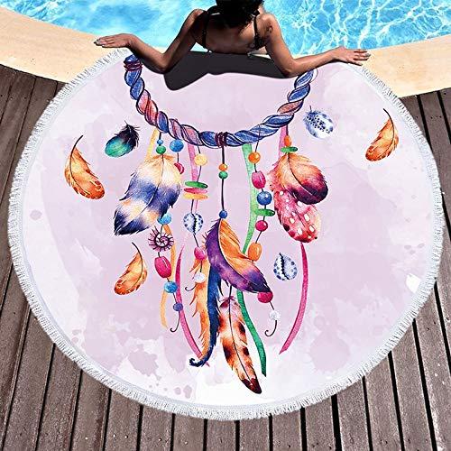 Circular Strandtuch, Druck Mikrofaserfilter Falle Sleeper für den Sommer Schwimmen Picknick Tapisserie der A9, Durchmesser 150 cm Urlaub Sleeper