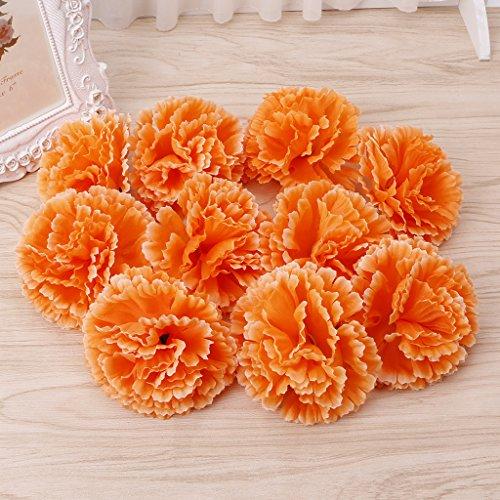 Jiamins 10 Stück Künstliche gefälschte Nelke Blume,für Braut Brautjungfer Hochzeit,Party Decor