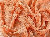 mit doppelt Ruffle Kleid mit Spitze Stoff, orange,