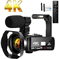Camcorder 4K HD 48MP Video Camera 18X Digital Zoom IR Night Vision YouTube Camcorder with Portable Handheld Stabilizer…