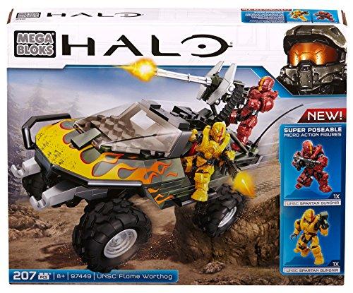 Mattel Mega Bloks CYY44 Halo - UNSC Flame Warthog (Halo-action-figuren Waffen)