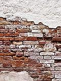 Fototapete Tapete Wandbild Welt-der-Träume | Abgenutzte Alte Rote Mauer | P4A (254cm. x 184cm.) | Photo Wallpaper Mural 10182P4A-MS | Imitation Ziegel Mauer Backsteine Beton