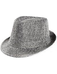 Tomatoa Unisex Kids Straw Trilby Fedora Cap Felt Fedora Hat Short Brim  Sunhat Sunscreen Sun Hats bd4d202b4d0d