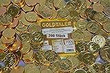 : KARNEVAL FASCHING WURFMATERIAL 200 stk. GOLDTALER EUROMÜNZEN SCHOKOLADEN