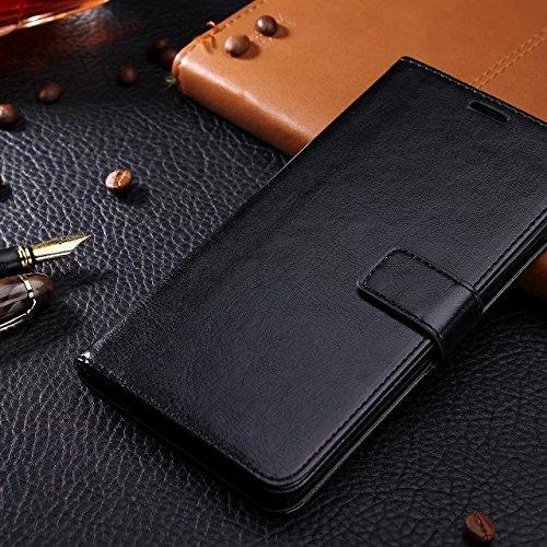 EKINHUI Case Cover Samsung A3 Fall feste Folio magnetische Design Flip Brieftasche Stil Fall Farbmuster PU-Leder-Abdeckung Standup-Abdeckungsfall für Samsung Galaxy A3 (2016) ( Color : Brown , Size :  Black