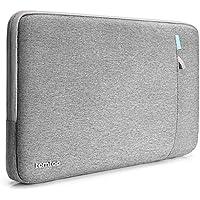 Tomtoc Funda protectora 360 ° para 15 pulgadas nueva MacBook Pro de con Touch Bar (A1707) ThinkPad portátil de 14 pulgadas, resistente a salpicaduras, resistente a derrames, bolsa para tableta, gris