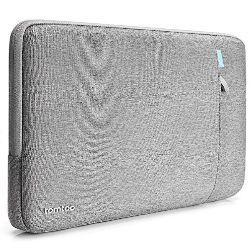 tomtoc Sleeve Tasche kompatibel mit Apple 12 Zoll MacBook Retina Display A1534, stoßfest, spritzwasserabweisend Schutzhülle Case mit Zubehörtasche, Grau