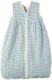 Lana Natural Wear Unisex - Baby Schlafsack Molton Punkte, Gepunktet, Gr. 80, Blau (Punkte Blue Air-Ombre Blue 9307)