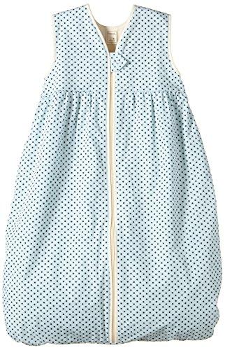 Lana Natural Wear Unisex - Baby Schlafsack Molton Punkte, Gepunktet, Gr. 120, Blau (Punkte Blue Air-Ombre Blue 9307)