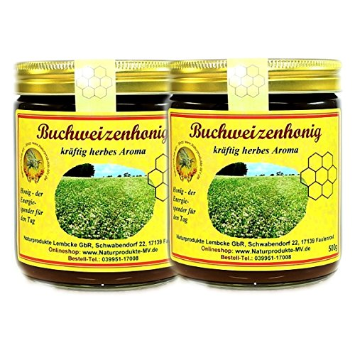 2x 500g Buchweizenhonig Honig