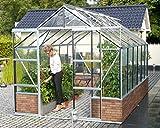 Gartenwelt Riegelsberger Gewächshaus Cassandra - Ausführung: 9900 ESG 3 mm Alu, Fläche: ca. 9,9 m², mit 4 Dachfenster,...