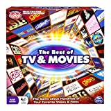 Spin Master Games: Best of TV & Movies Board Game - Test Your Knowledge of 100's of TV Shows and Movies - For 2-6 Players - Includes Over 400 Cards - Play for Hours of Family Friendly Entertainment
