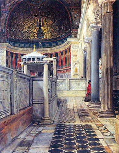 Das Museum Outlet-Das Innere der Kirche San Clemente, Rom von 1500-A3Poster