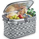 Grey: VonShef Large 22L Insulated Cooler Bag