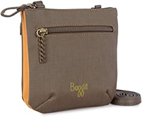 Baggit Women's Cosmetic Bag (Brown)