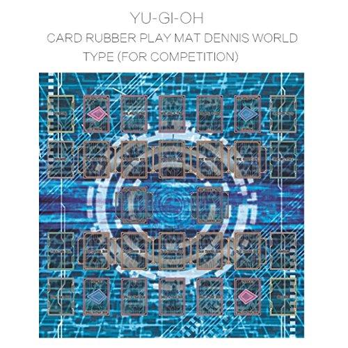 HKFV 60x60cm Gummi Spielmatte Ägypten Wand Stil Wettbewerb Pad für Yu-Gi-oh Karte Spiel König Zubehör Card Game Pad Play Mat (Blue) (Yugioh Karten Spiele)