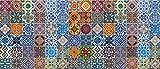 Artland Qualität I Alu Küchenrückwand Spritzschutz Küche 120 x 51.4 cm Abstrakte Motive Muster Foto Bunt F1RO Gemusterte Keramikfliesen