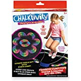 Chalktivity - Creativity In Action - Rainbow Jump Rope With 8 Powdered Chalk Packs