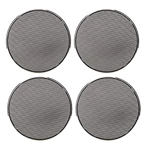2pcs Car Speaker Cover,Car Modification Speaker Protective Net Loudspeaker Cover Grill Guard Protector 6.5inch Electroplating Decoration