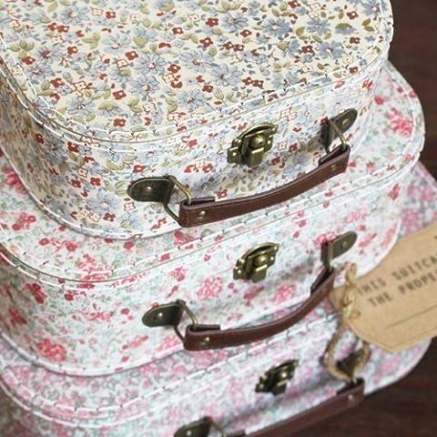 Style Vintage Lot de 3 Valises de boîte postale/Plan de Table/Venue dé cor