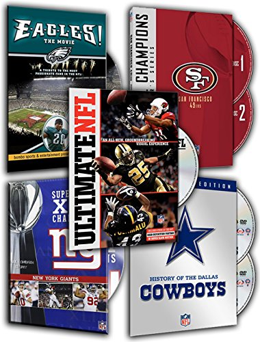 NFL Super Bowl Collection - San Francisco 49ers, E-A-G-L-E-S! The Movie, NFL: Ultimate Nfl, NFL: History of the Dallas Cowboys, NFL Super Bowl XLII - New York Giants Championship (5 DVDs Pack)