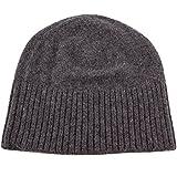 Love Cashmere Damen 100% Kaschmir-Mütze Hut für Skifahren - 'Dunkelgrau' - Handgefertigt in Schottland - UVP €130