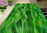 Yosot 3D Bodenbelag Tapete Moderne Geometrische Benutzerdefinierte 3D Boden Gras Selbstklebende Tapete Fliesenboden Badezimmer -350cmx245cm