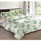 Bombay Dyeing Autumn Winter 17' Caelina Polycotton Double Bedsheet- D05- Ensign Blue - 124TC