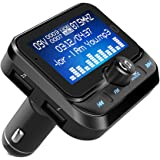 Bluetooth FM Transmitter, Ulycool Wireless Auto Radio Adapter Freisprecheinrichtung Car Kit mit USB Auto-Ladegeräte, 3.5mm AUX und Micro SDHC-Karten-Slot für iPhone Android, 1.8 Zoll LED Bildschirm