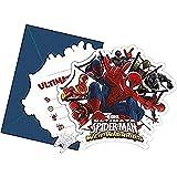Web Warriors Lot de 6 Cartes d'invitation Ultimate Spider-Man
