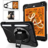A-BEAUTY Case for iPad Mini 5 2019 / iPad Mini 4 with [Screen Protector] [Stylus] [Pencil Holder] [Handstrap Shoulder], Black