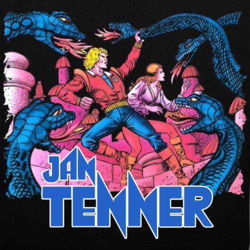 Spreadshirt Jan Tenner Temple Of Death Borsa In Tessuto Colorato Nero