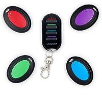 VODESON Localisateur d'objets (clés, portefeuilles...) Porte Clés Siffleur Key Finder Anti-perte--1 emetteur + 4…