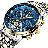 Luxus-Herren-Armbanduhr, Luxus, automatische mechanische Uhr, wasserdicht, Vollstahl-Armbanduhr
