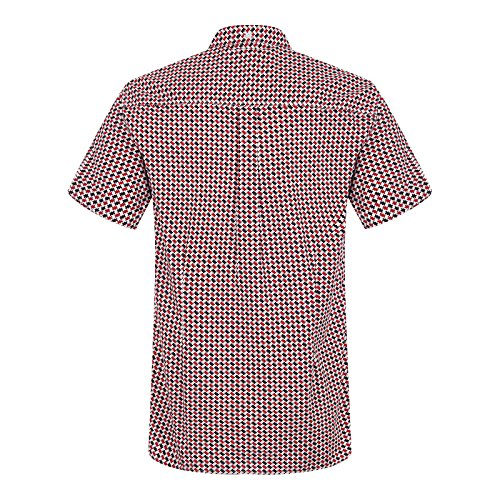 Merc London Shipley Short Sleeve Shirt in Red Red