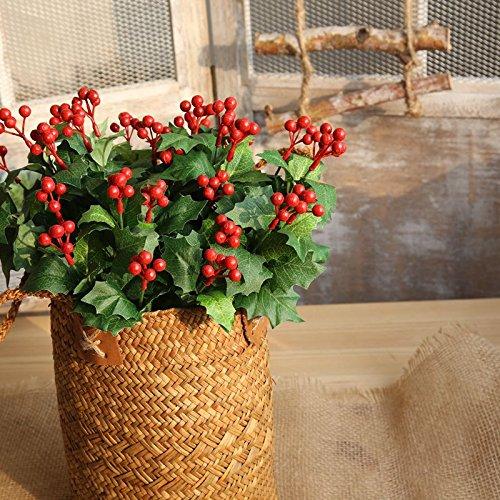 Baixue natale frutta simulazione fiore a casa decorazione bouquet di nozze fiore fiore muro delle piante con fiori finti strada muro,10 paglia ceste (lv ye)
