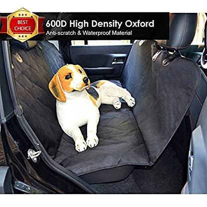 Fragralley Dog Seat Cover Unique Design & Detachable Sherpa Fleece Mat – Ultimate Pet Back Seat Covers for Cars, Trucks… 2