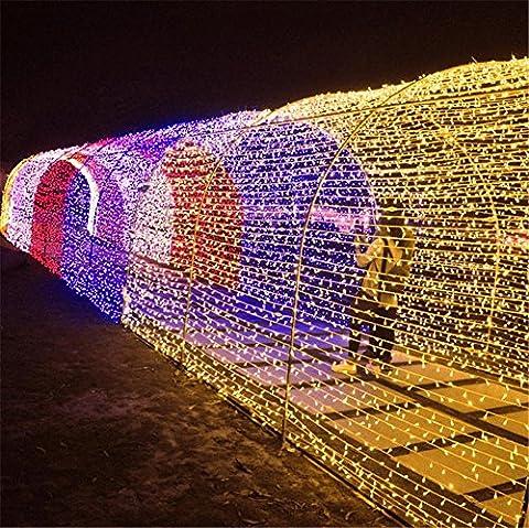 LUCKY CLOVER-A Weihnachten Solar String Lights 22 Meter 200 LEDs, Starry Fairy Lights Outdoor, Garten, Homes, Hochzeit, Party, Holiday Decoration (Wasserdicht, 8 Modi),