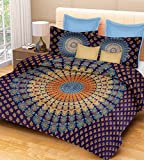 PURE COMFORT 100% Cotton Double Bedsheet...