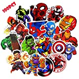 Autocollants pour ordinateur portable (100 pcs), Superheros ordinateur autocollants...